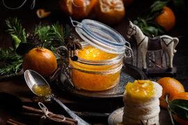 Мандариновый джем с пряностями и эфирными маслами