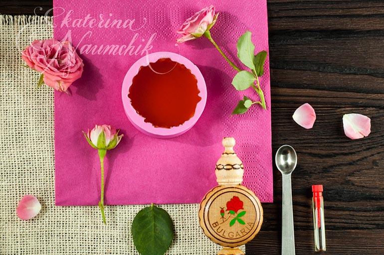Плитка для тела с розовым маслом