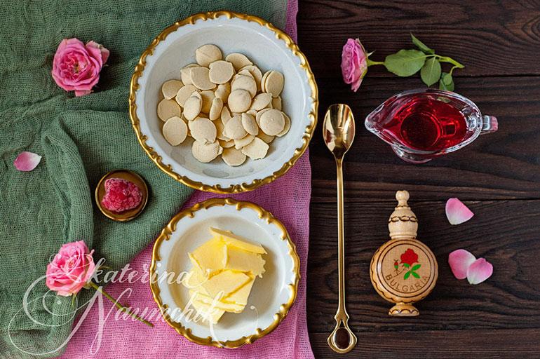Ингредиенты для приготовления ароматерапевтического трюфеля с розой