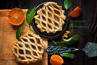 мини-тарт с мандариновым джемом
