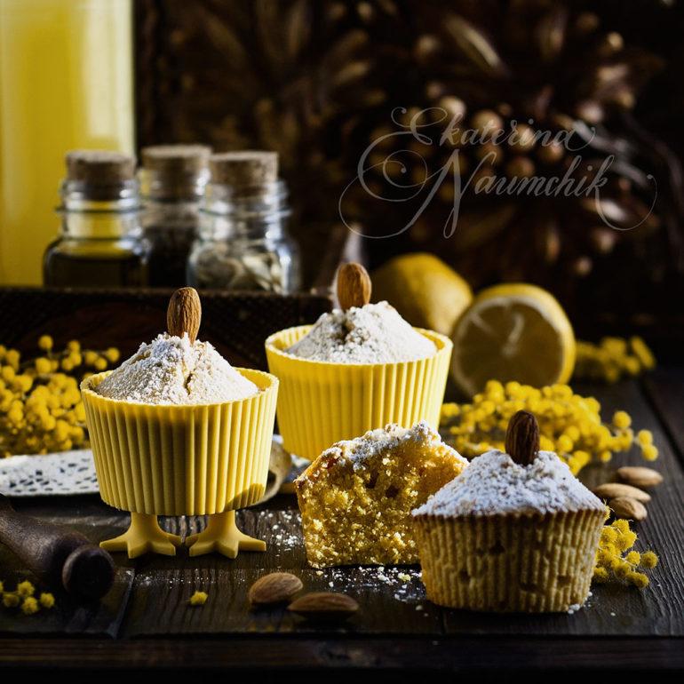 Миндально-кукурузные кексы с мёдом