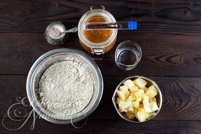Мини-тарт с мандариновым джемом, ингредиенты