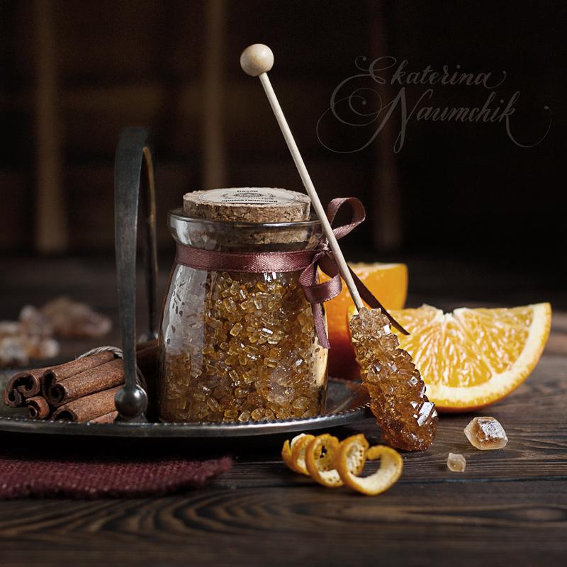Апельсиновый сахар с корицей