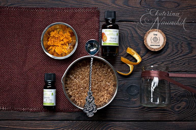 Как приготовить апельсиновый сахар с корицей