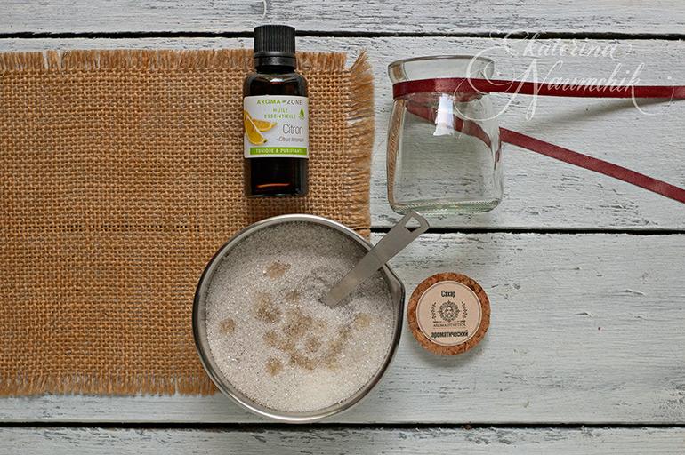 Как приготовить ванильный сахар с лимоном