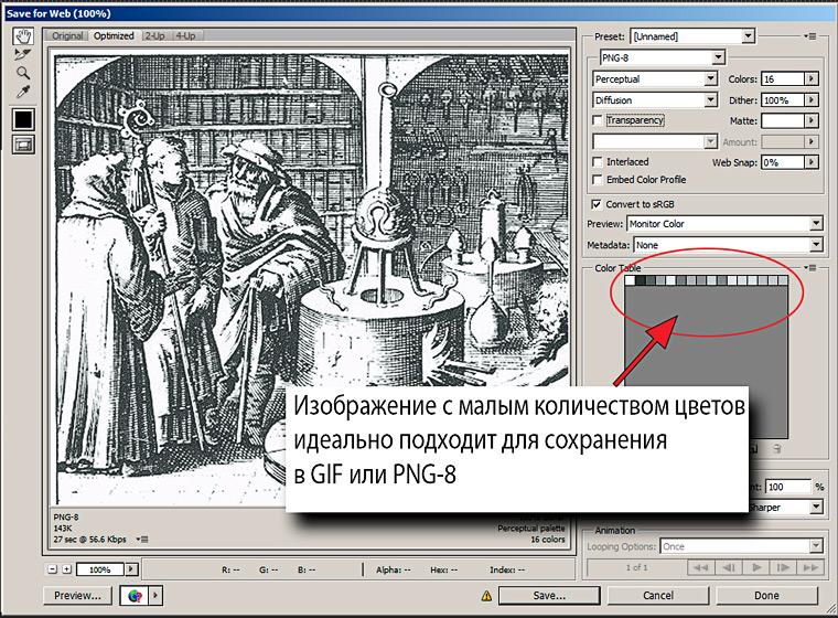 как сохранять изображения для сайтов