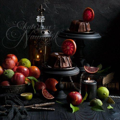 Шоколадные кексы с апельсином